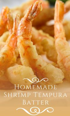 This Homemade Shrimp Tempura Batter has great flavor and will give your tempura just the right texture. It is light crisp and tasty. Sushi Recipes, Shrimp Recipes, Veggie Recipes, Asian Recipes, Gourmet Recipes, Cooking Recipes, Gourmet Desserts, Asian Foods, Recipies