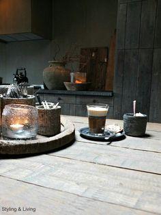 Showroom Styling & Living | Landelijke keuken | Rustic kitchen | Wonen landelijke stijl | sober | stoer | webshop | landelijke woonaccessoires  www.stylingandlivingshop.nl