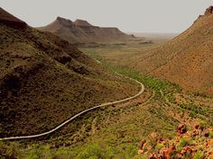 This photo from Western Cape, West is titled 'Karoo National Park'. Big Sky Country, Country Roads, Road Trip, South African Art, Out Of Africa, Wilderness, Monument Valley, National Parks, Scenery