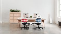 The original Opendesk, a generous and flexible four person workstation designed for Mint Digital.