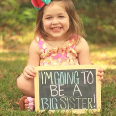 Cute idea to announce a new baby into the family!