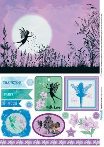 Fairy free papers from Papercraft Inspirations magazine 167 - Papercraft Inspirations