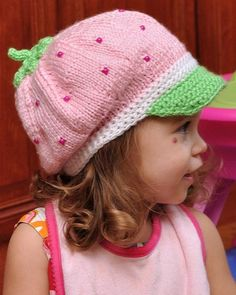 Strawberry Shortcake Hat includes both knitting and crocheting