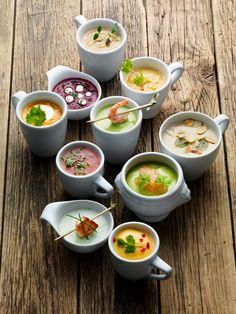 : LUNDLUND : : : MONICA EISENMAN The soups are beautiful with their different toppers/condiments