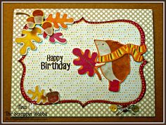 The Scrappin Rabbit: Cricut Imagine- Fall Hedgehog Birthday Card
