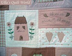 Ulla's Quilt World: Quilted Tilda blanket, Houses
