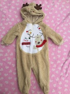 2cfa2df4c0399 MiniWear Baby Reindeer Outfit 3 to 6 Months My First Christmas  fashion   clothing