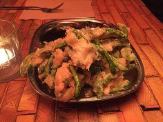 Vegan green bean tempura á K-bar. Vegan útgáfa ekki á matseðli.