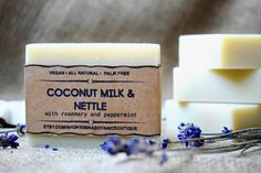 Luxury Coconut Milk Soap  All Natural Soap by EminaBotanicBoutique