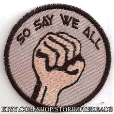 So Say We All Patch by StoriedThreads on Etsy, $8.00