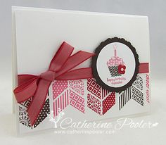 Catherine Pooler: Creativity Grows Here – Stampin' Up Sale-a-bration Patterned Occasions - 3/20/13.  (SU/ 2013 Occ: Oh, Hello stamps.  2013 SAB: Patterned Occasions).  might try newer chevron punch now.  (Pin#1: Geometrics...; Pin+: Cake.../).
