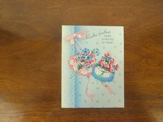 Sweet 1950's Valentines Day Card Unused with by VintageRetrievers