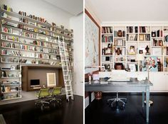 Can't get over these amazing bookshelves. Incredible! | Workspaces