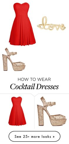"""love "" by daniyaayanna on Polyvore featuring Sydney Evan and Steve Madden"