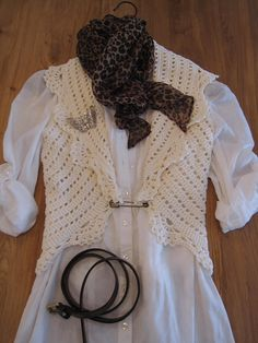 This vest is just stunning.  The crochet work  is beautiful.