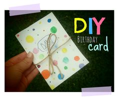 DIY Birthday card Diy Birthday, Birthday Cards, Bday Cards, Birthday Greetings, Anniversary Cards, Congratulations Card