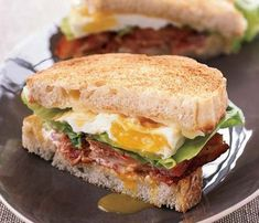 Rich (And Worth It!): So you drank a little too much last night (it happens to all of us). Let a fried egg, with partners-in-crime bacon and cheese, heal your post-party woes in this ultimate breakfast sandwich. #SelfMagazine