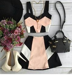 New Clothes For Women Outfits Crop Tops Ideas Teen Fashion Outfits, Mode Outfits, Girl Outfits, Fashion Dresses, 90s Fashion, Fashion Clothes, Fashion Trends, Cute Casual Outfits, Casual Dresses