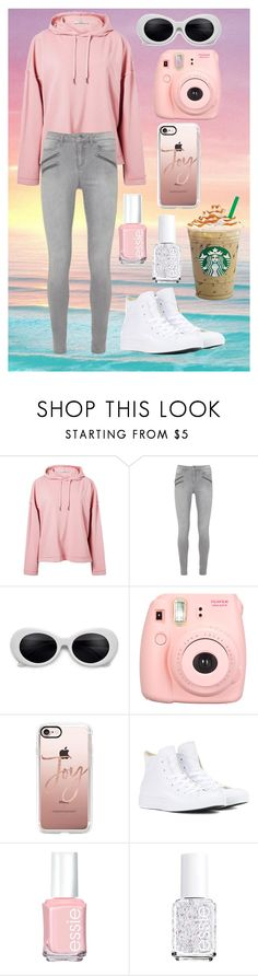 """""""🙂🙂"""" by blinggirl1227 ❤ liked on Polyvore featuring Isharya, MANGO, Polaroid, Casetify, Converse and Essie"""