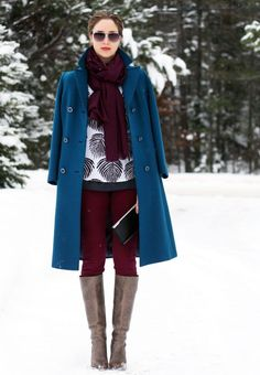 Pinned because I like these colours together. Of course, I'll have to wear them on a snowy day for the full effect!
