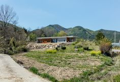 the apple farm house designed by 2m2 architects is inspired by its surrounding natural scenery