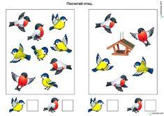 Montessori Math, Preschool Learning, Cartoon Sun, Diy And Crafts, Crafts For Kids, Kindergarten, Bird Coloring Pages, File Folder Games, Bird Theme