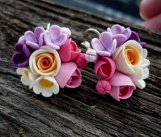 Polymer Clay Flowers, Fimo Clay, Polymer Clay Crafts, Polymer Clay Earrings, Clay Miniatures, Clay Creations, Jewelry Crafts, Inspiration, Humpty Dumpty