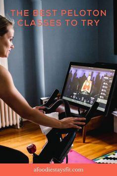 I was excited about the Peloton to help me recover from a running injury. Then, when I got pregnant, it was a great workout for all nine months, in addition to running. I used the Peloton app for 3 months and just propped my phone up on the stationary bike at the gym. I was shocked how much I enjoyed it, since I wasn't really into cycling previously. Peloton has lots of workout classes without bike! Here are the best Peloton classes and instructors for cycling, running, strength, and yoga. Crossfit Gear, Crossfit At Home, Workout Classes, Running Workouts, Amrap Workout, Workout Tanks, Peloton Bike, Running Injuries, Prenatal Yoga