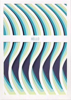 "Bright yet calming ripples of paper form a precise wave ""hello"" to your dearest friend or newest acquaintance."