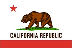 California State Flag, For Preschool we will make a paper bear and figer paint grass under, and tear red paper to make the lg red stripe, teachers will add the words and star, this will be one large class art project!!!