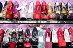This is what i want my shoe closet to look like. Dream Shoes, Crazy Shoes, Me Too Shoes, Sock Shoes, Shoe Boots, Favim, Shoe Closet, Thigh High Boots, Buy Shoes