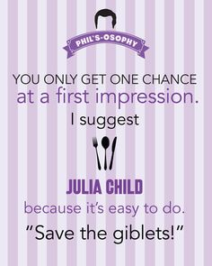 Typography Print, Quote Print, Modern Family, TV Quote, Decorative - Phils-osophy - First Impression (8x10)