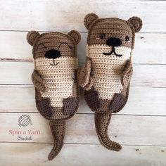 #crochet, free pattern, otters, amigurumi, stuffed toy, #haken, gratis patroon (Engels), otters, knuffel, speelgoed, #haakpatroon