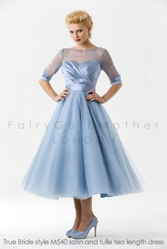 FairyGothMother - tb-m540 Tea length bridesmaid dress.