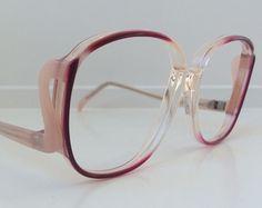 6a881eb8fbf Vintage Pink Eyeglass Frames - Oversized Eyeglasses - Cat Eye Horn Rim  Light Pink Clear Glasses - Oleg Cassini Clear Demo Lenses - NOS 30