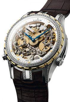 Edox   Cape Horn 5 Minute Repeater   Edelstahl/Gold   Uhren-Datenbank watchtime.net