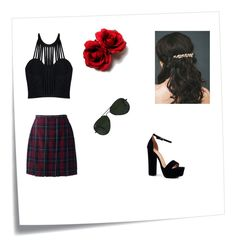 """""""Goth"""" by joey-ly on Polyvore featuring beauty, Post-It, Posh Girl, Lands' End, Boohoo and Ray-Ban"""