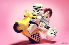 Speedster Trooper by storm TK431 | LEGO Star Wars Stormtroopers Girl & Stormtrooper Minifigs on a scooter