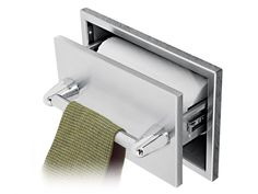 Pull out drawer with paper towel storage inside, kitchen towel outside