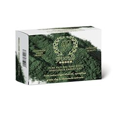 Fysio Natural and Organic Green Clay & Spirulina olive oil soap bar – 90gr – Made all from natural Igredients – Ideal for the face & body – Against aging & acne – Antiseptic – Antibacterial - http://best-anti-aging-products.co.uk/product/fysio-natural-and-organic-green-clay-spirulina-olive-oil-soap-bar-90gr-made-all-from-natural-igredients-ideal-for-the-face-body-against-aging-acne-antiseptic-antibacterial/