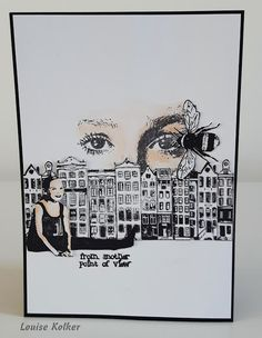 Follow me on my Art Journey: Art Journey Challenge # 77: Zwart/wit met nog 1 kleur. Black and white and 1 other color