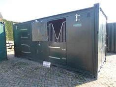 shipping container horse barn | Shipping container stables - suitable for small ponies #stables