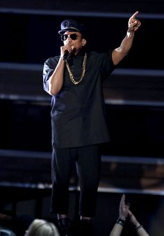 Q-Tip, from A Tribe Called Quest, performs at the 59th annual Grammy Awards