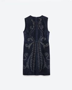 Image 8 of METALLIC DETAIL LEATHER DRESS from Zara