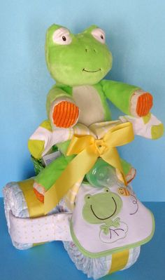 Diaper Tricycle  Neutral Diaper Cake by PamperedBabyCreation