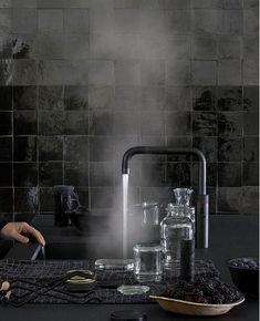 Nieuw! De zwarte kokendwaterkraan Quooker Fusion #keuken #zwart #kraan #quooker