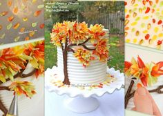 Autumn Leaves cake @ MyCakeSchool blog...simple to execute idea, just time & patience. Pinning to remember the idea.
