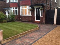 New front garden, sleeper retainer, block paved path and gravel driveway for a customer in Rudheath, Northwich, Cheshire to make it more pushchair friendly!