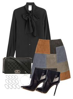 """""""Untitled #2040"""" by ritavalente ❤ liked on Polyvore featuring Moschino, MiH, Michael Kors, Chanel and ASOS"""
