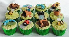 Garden Bugs Cupcakes! by thecustomcakeshop. These are really adorable but I imagine expensive per cupcake. Something I could look into locally.